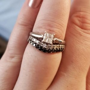 Beautiful engagement and wedding ring